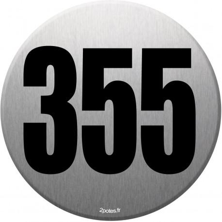 numéroderue355 gris brossé - 10cm