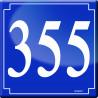 Sticker / autocollant : numéroderue355 classique - 10cm
