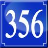 Sticker / autocollant : numéroderue356 classique - 10cm