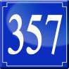 Sticker / autocollant : numéroderue357 classique - 10cm