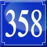 Sticker / autocollant : numéroderue358 classique - 10cm