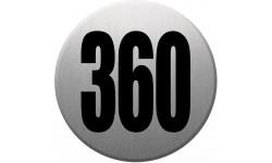 numéroderue360 gris brossé
