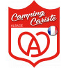 Sticker / autocollant : Camping cariste Alsace - 15x11.2cm