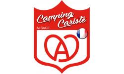 Sticker / autocollant : Camping cariste Alsace - 10x7.5cm