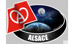 Sticker / autocollant : ALSACE - 10X14cm