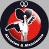 Sticker / autocollant : Alsacien & Alsacienne - 10cm