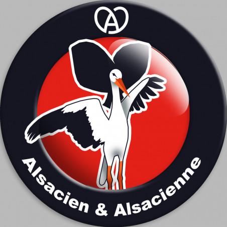 Sticker / autocollant : Alsacien & Alsacienne - 5cm