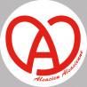 Sticker / autocollant : Alsace blanc et rouge - 10cm