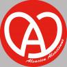 Sticker / autocollant : Alsace rouge et blanc - 10cm