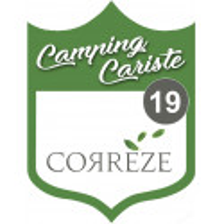 Sticker / autocollant : Camping car Corrèze 19 - 10x7.5cm