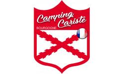 Sticker / autocollant : Camping cariste Bourgogne - 20x15cm
