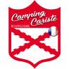 Sticker / autocollant : Camping cariste Bourgogne - 10x7.5cm