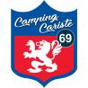 Sticker / autocollant : Camping car Lyon 69 - 15x11.2cm