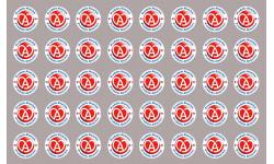 Sticker / autocollant : série 40 produits Alsacien - 2cm