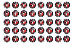 Sticker / autocollant : série 40 produits Alsacien cigogne - 2cm