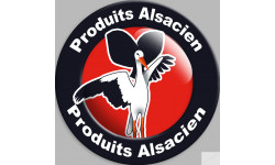 Sticker / autocollant : produits Alsacien cigogne - 20cm