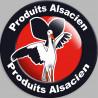 Sticker / autocollant : produits Alsacien cigogne - 15cm