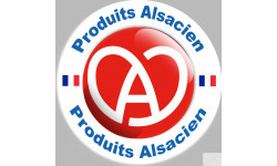 Sticker / autocollant : produits Alsacien - 20cm