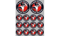 Sticker / autocollant : série Produits Alsacien cigogne - 2x10cm/12x5cm