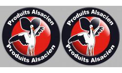 Sticker / autocollant : série Produits Alsacien cigogne - 2stickers de 10cm
