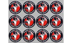 Sticker / autocollant : série Produits Alsacien cigogne - 12stickers de 5cm