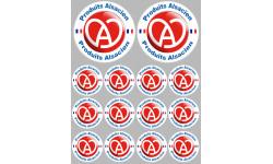 Sticker / autocollant : série Produits Alsacien - 2x10cm/12x5cm