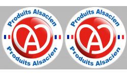Sticker / autocollant : 2 produits Alsacien - 10cm