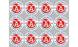 Sticker / autocollant : série Produits Alsacien cigogne - 12stickers x5cm