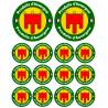 Sticker / autocollant : série Produits d'Auvergne - 2x10cm/12x5cm