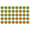 Sticker / autocollant : série Produits d'Auvergne - 40stickers de 2cm