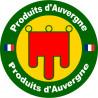 Sticker / autocollant : Produit d'Auvergne - 15cm