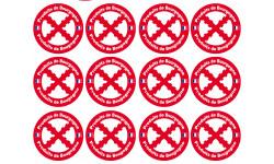 Sticker / autocollant : Produits Bourguignons - 12stickers de 5cm