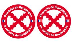 Sticker / autocollant : Produits Bourguignons - 2stickers de 10cm