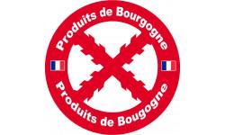 Sticker / autocollant : Produits de Bourgogne - 1 sticker de 20cm