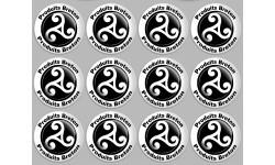 Sticker / autocollant : Produit breton triskel - 12 autocollants 5x5cm