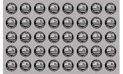 Sticker / autocollant : Produit breton drapeau - 40 pièces de 2cm