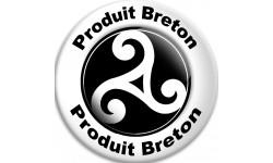 Sticker / autocollant : Produit breton hermine - 20cm