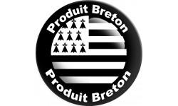 Sticker / autocollant : Produit breton drapeau - 20cm
