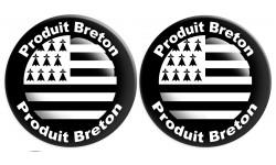 Sticker /autocollant : Produit breton drapeau - 2 stickers de 10cm