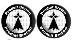 Sticker / autocollant : Produit breton hermine - 2 stickers de 10cm