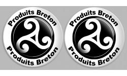 Sticker / autocollant : Produit breton triskel - 2 stickers de 2cm