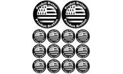 Sticker / autocollant : planche produis breton drapeau - 2 fois 10cm / 12 fois 5cm
