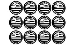 Sticker / autocollant : série Produit breton drapeau - 12 fois 5cm