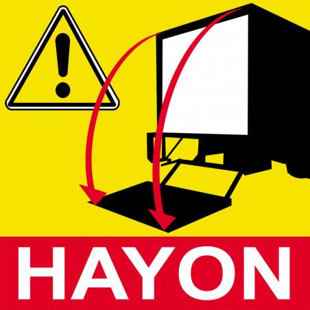 Sticker / autocollant : Signalétique Hayon - 20cm