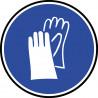 Sticker / autocollant : Protection main obligatoire - 15cm