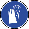 Sticker / autocollant : Protection main obligatoire - 10cm