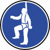 Sticker / autocollant : Protection contre la chute obligatoire - 10cm