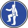 Sticker / autocollant : Protection contre la chute obligatoire - 10cm