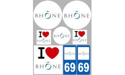 stickers / autocollant département du Rhône