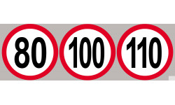 80-100-110km/h rouge